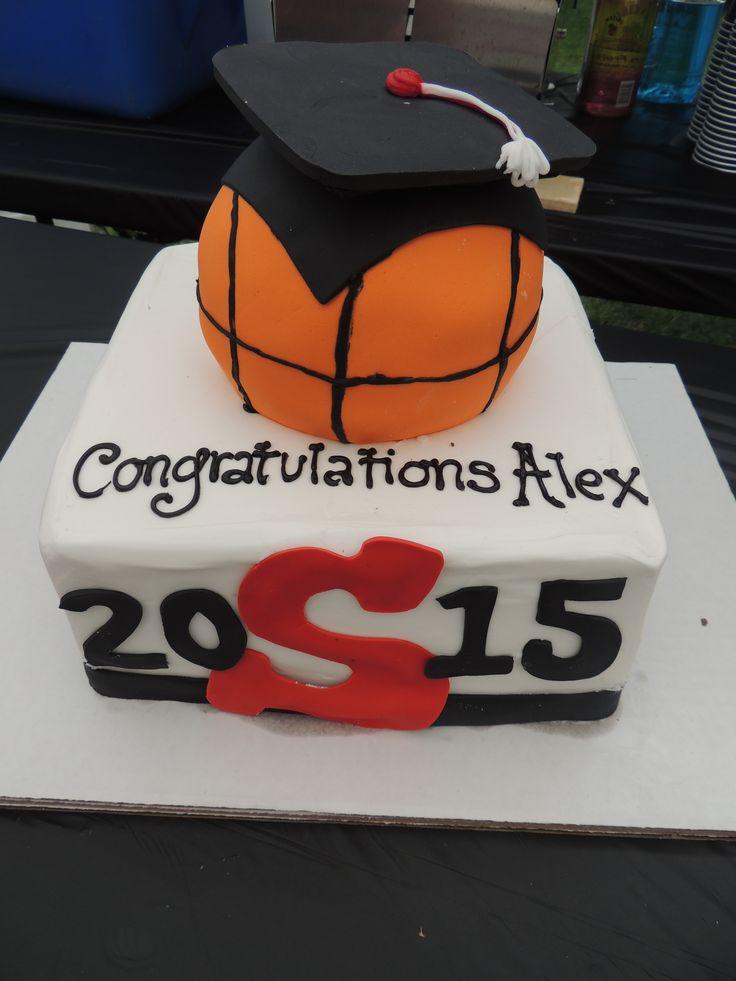 High School Graduation Basketball Cake