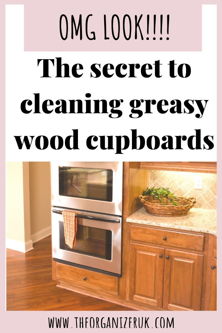 How to clean sticky wood kitchen the organizer