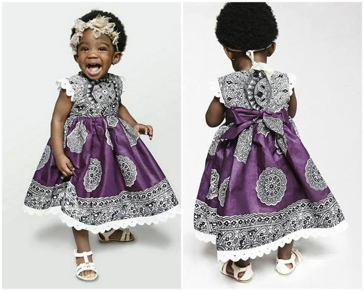 Model robe en pagne pour petite fille