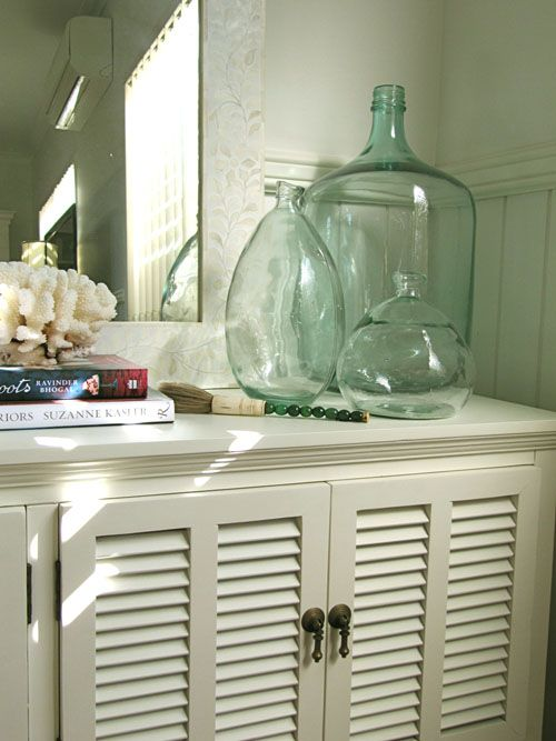 SallyL: Porchlight Interiors - Coastal, tropical feel to bedroom cabinets. Wide planked ...
