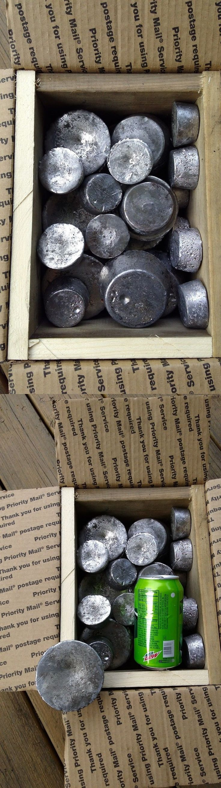 Molds 71118: 55 Lbs Of Lead Ingots Shipped In Reinforced Box -> BUY IT NOW ONLY: $58 on eBay!