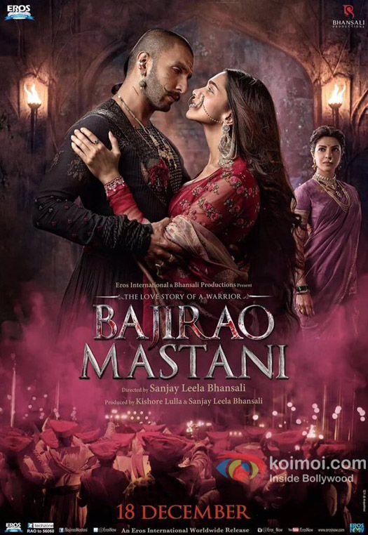 Ranveer Singh, Deepika Padukone and Priyanka Chopra in a still from 'Bajirao Mastani' movie poster