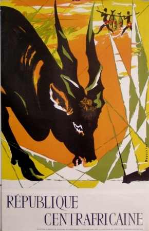 Central African Republic French travel poster ca 1950