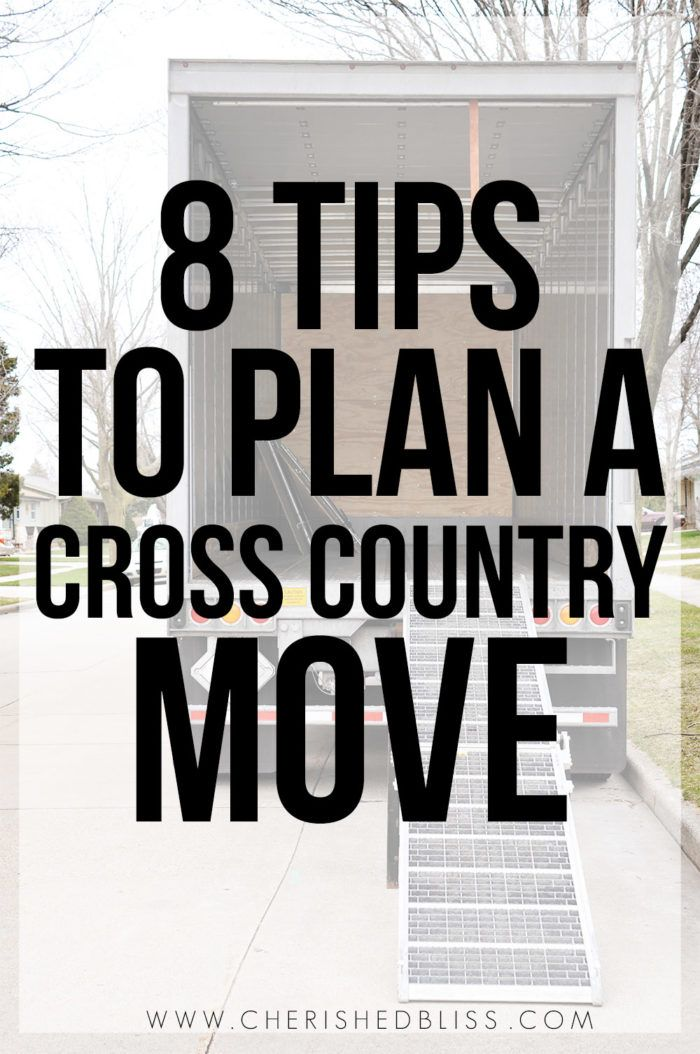 Are you planning a cross country move? With these 8 tips you can get organized and prepared for your journey across the USA!