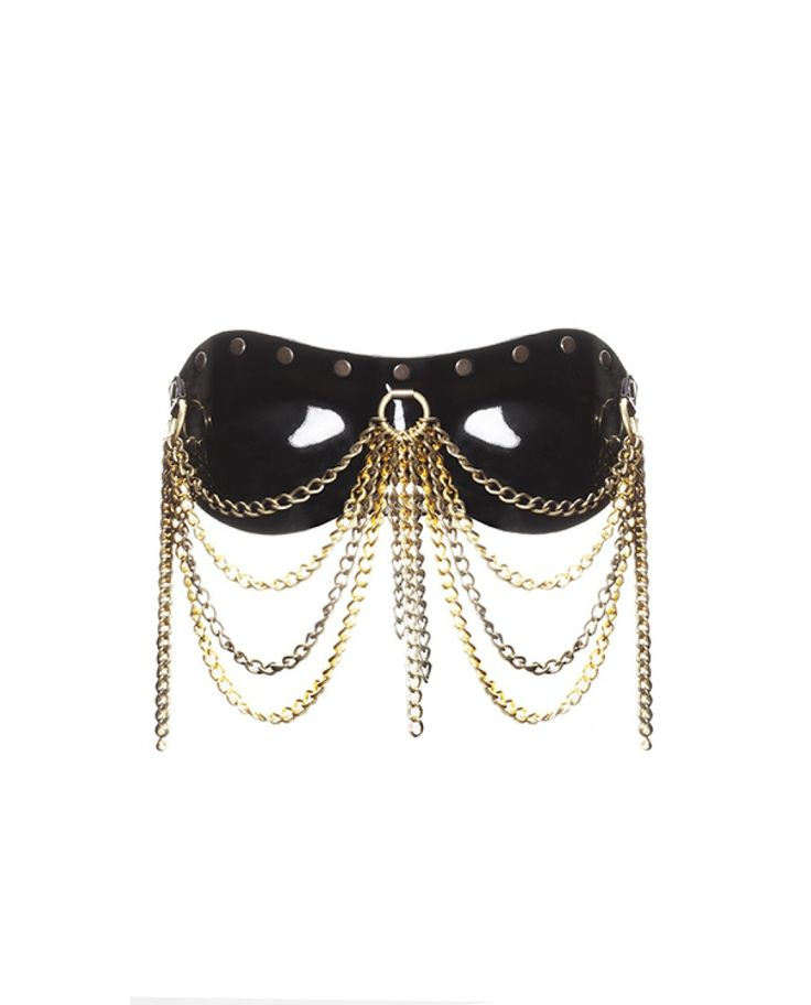 Moulded Blindfold With Chain Cascade