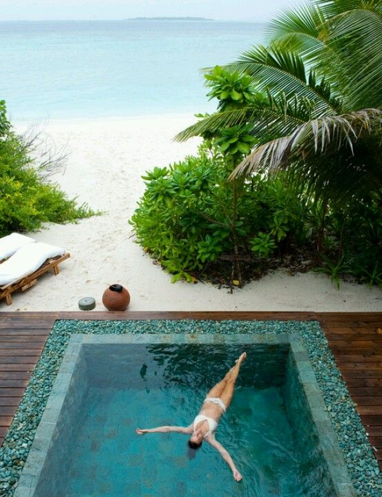 A dream pool on a beautiful beach