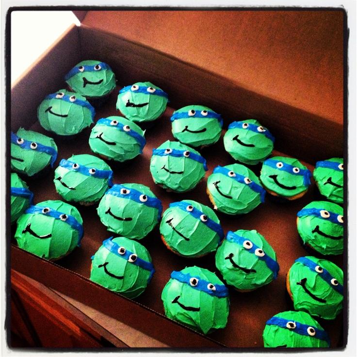 how to make a ninja turtle cupcake cake
