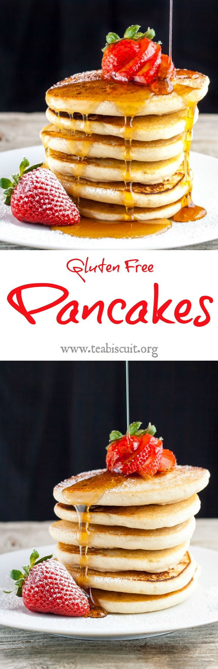 A quick and easy gluten free pancake recipe that is far superior to any boxed mixes you've tried!