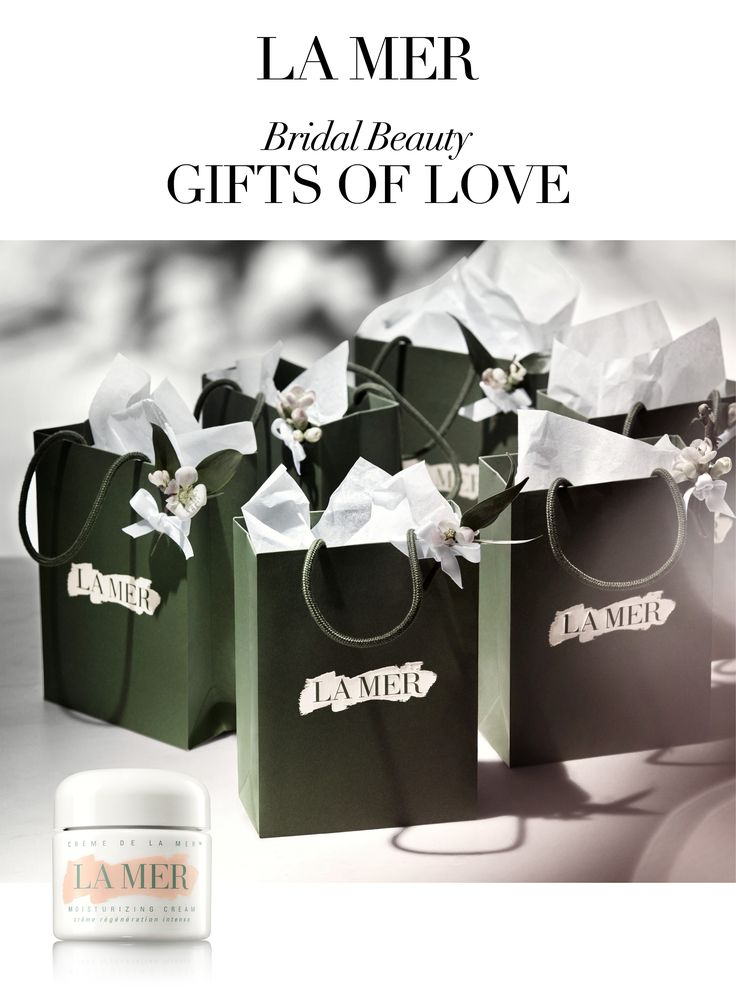 Brides wanting to spoil their bridesmaids: Look no further than the gift of La Mer. Whether it's The Lip Balm to slip into a clutch, the luxuriously revitalizing Mist, or the iconic moisturizer itself - you are sure to hear squeals of happiness from those whom you cherish when they unwrap their pretty presents.