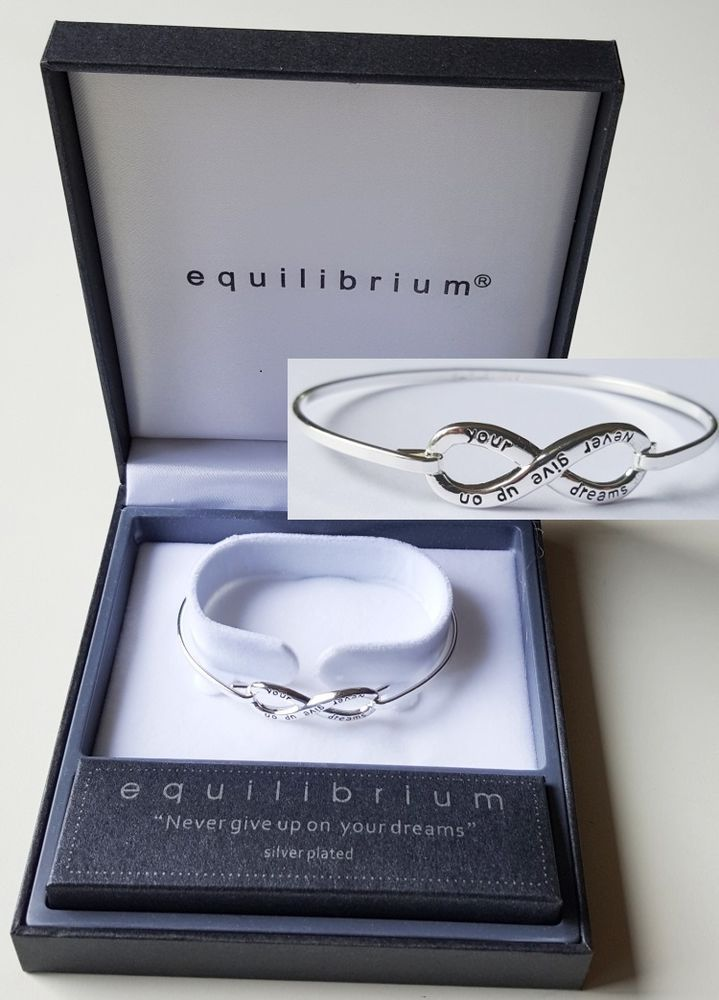 Equilibrium Eternity Bangle - Never Give Up - Inspirational Gift Boxed