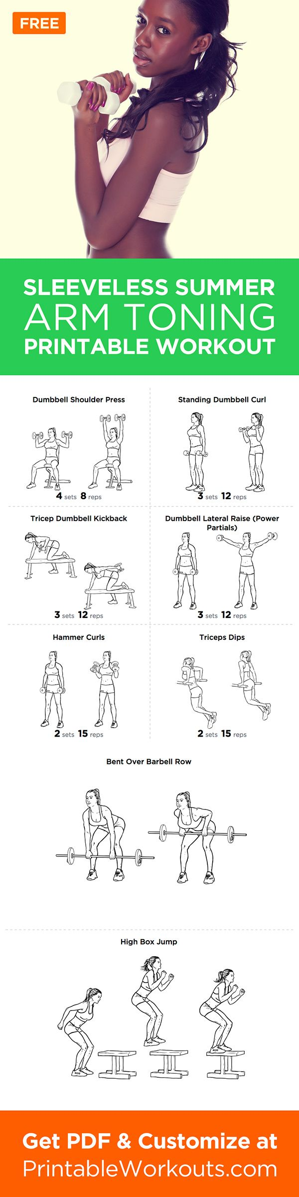 Worried about wearing all those sleeveless shirts this summer season? Try this 15-minute workout and you will be well prepared!