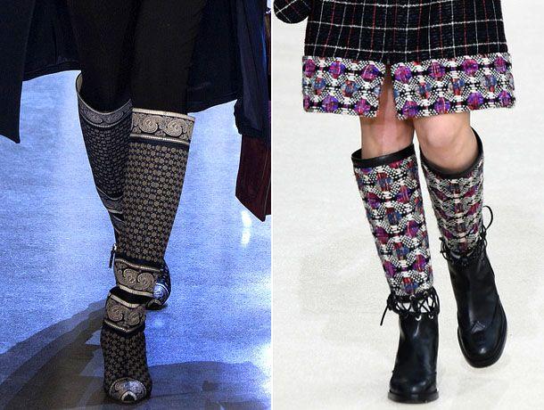 Модные сапоги 2017 от Altuzarra и Chanel