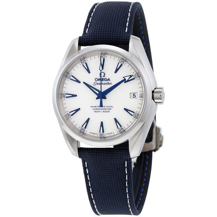 Omega Seamaster Aqua Terra White Dial Automatic Men's Watch 23192392104001 - Seamaster Aqua Terra - Omega - Shop Watches by Brand - Jomashop