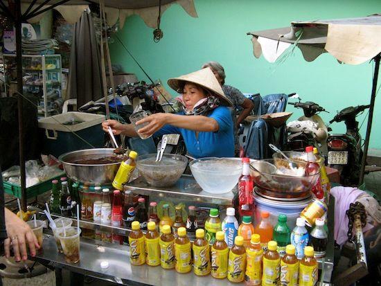 Eating at markets in Saigon