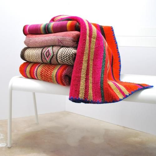 Frazadas | hand-woven in the Andes | wool + alpaca | at Potted in Los Feliz