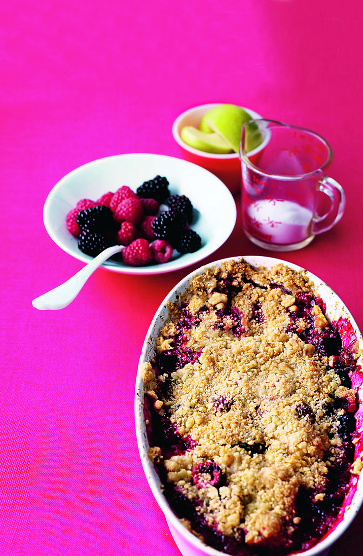 Once you know how to make the easy crumble mix you can try any one of the four different fillings, including apple and berry, classic apple, pear and stem ginger and plum and almond. Perfect crumbles for all year round.
