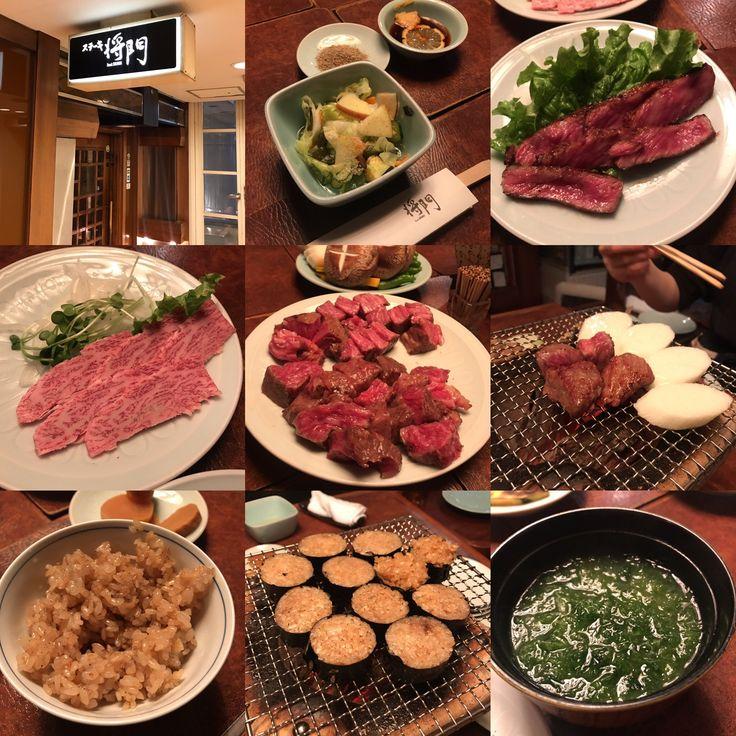 先日は大先輩と共に将門さんへ❣️ ☆*:.。. o(≧▽≦)o .。.:*☆  老舗のお店で至福の時間を過ごさせて頂きました❣️  お肉料理は牛肉のたたきに始まり、厳選された部位だけを横でゆっくりと焼き上げてくれます❣️  おかわり自由のサラダを共に、お肉をパクパク❣️  締めはニンニクチャーハンをお椀と海苔巻きにして炙り直したものを食べ比べ、アオサたっぷりのお味噌汁は絶品❣️  デザートには季節の桜アイス❣️  大変美味しゅうございました❣️  感謝❣️  #炭焼ステーキ将門 #老舗ステーキハウス #牛肉のたたき #牛刺し #厳選された部位のお肉 #美味しいサラダ #ニンニクチャーハンをお椀で #ニンニクチャーハンを海苔巻き #アオサたっぷり味噌汁とお漬物 #デザートは桜アイス #名古屋市中区錦 #breakthroughnagoya #breakthroughjapan
