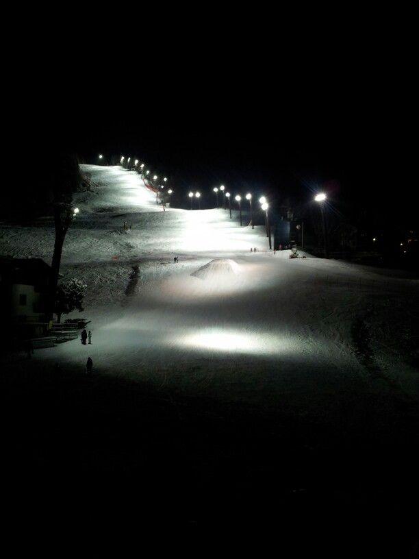 Night skiing in Bormio