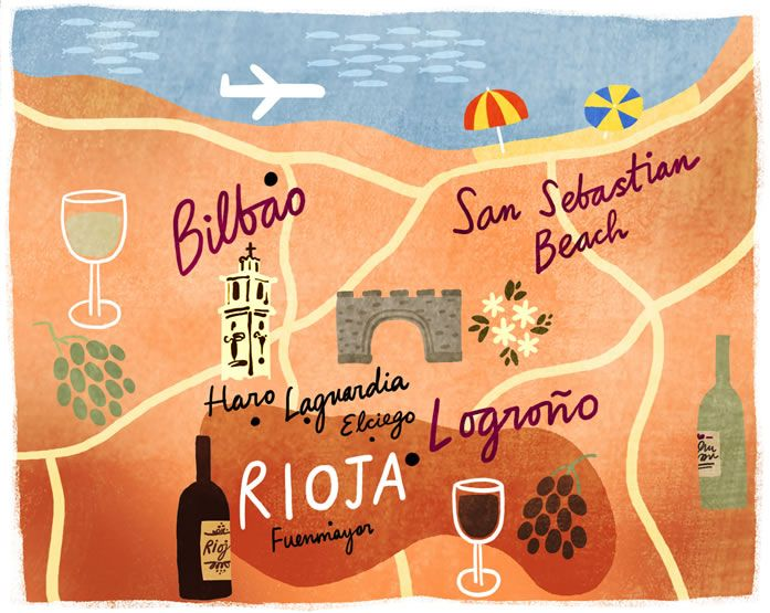 Visit Rioja, drink wine, then go to the beach at San Sebastián :)