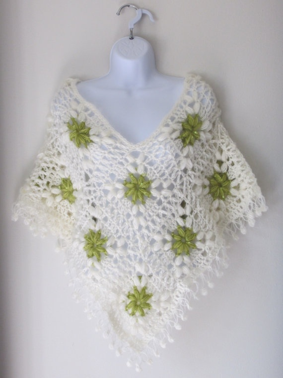 Poncho for Woman / Teen Poncho / Shawl by Bluetulipgifts on Etsy, $44.99