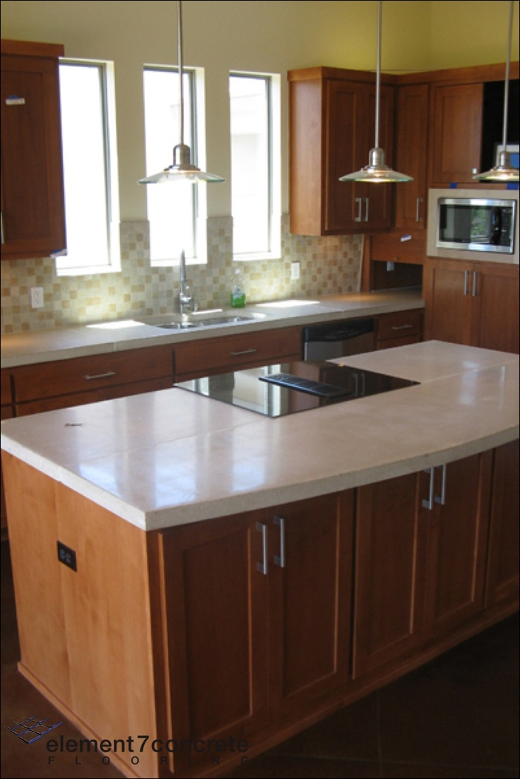 Concrete Is An Interesting Material For Counter Tops. It Is Familiar, Yet We