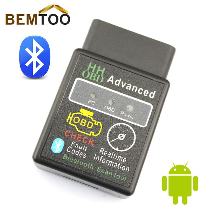 HH OBD MINI Bluetooth OBD2 Mobil Diagnostik Alat ELM327V2.1 Hitam DAPAT Wireless Adapter Scanner TORQUE ANDROID, Gratis Pengiriman