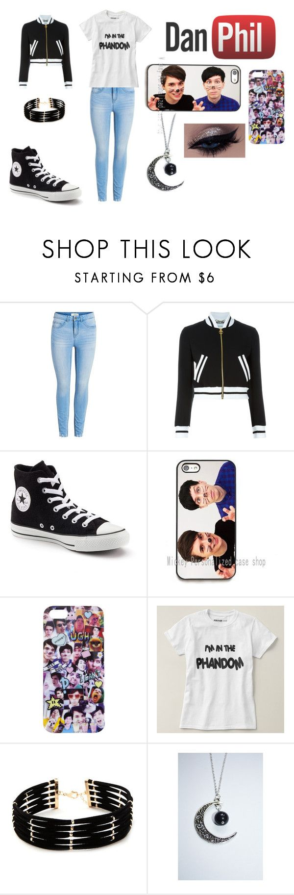 """""""Dan and Phil phandom"""" by zoe-lynne-hicks on Polyvore featuring Moschino, Converse and Forever 21"""