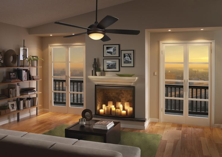 The Monte Carlo Discus Ceiling Fan Has A Sleek Design That Will Complement An