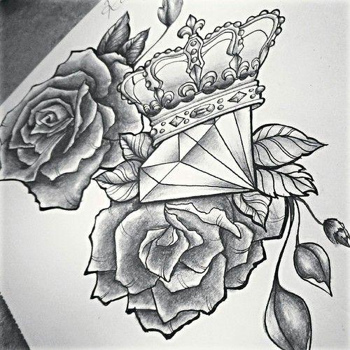 Les tags les plus populaires pour cette image incluent : diamond, drawing, we heart it, black and white et draw