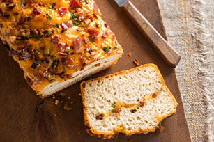 Who doesn't love a fresh loaf of bread straight from the oven? Our four-ingredient quick bread is made even better with Cheddar cheese and bacon.