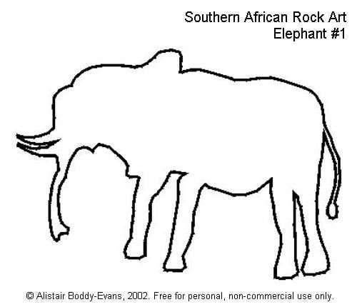 Southern African Rock Art: Elephant #1