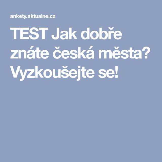 TEST Jak dobře znáte česká města? Vyzkoušejte se!