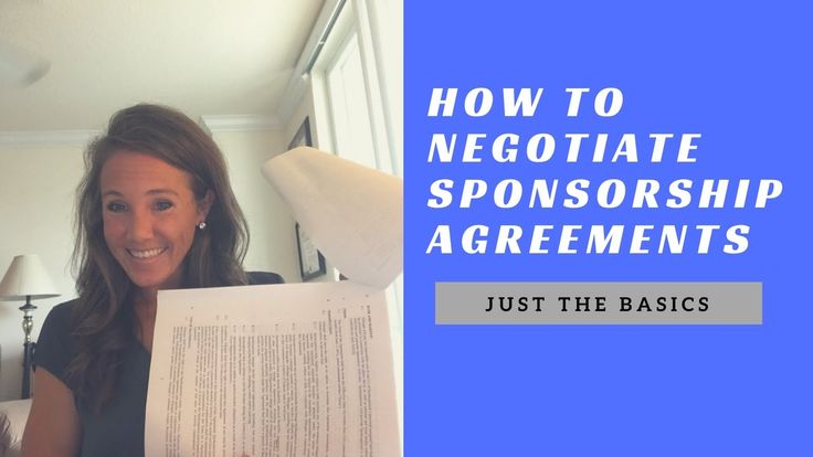 What to look for before signing ANY contract: especially those highly coveted sponsorship agreement!