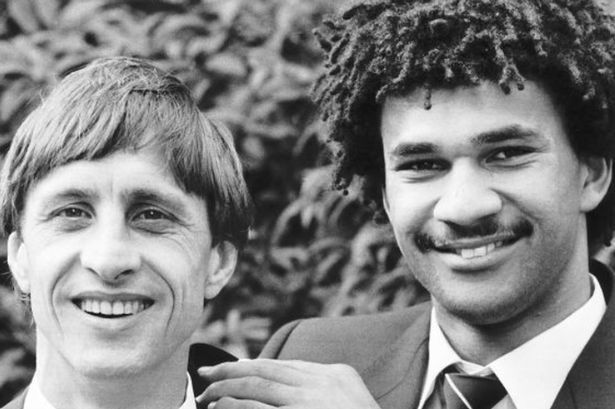 Mentor and protege: Cruyff with Ruud Gullit