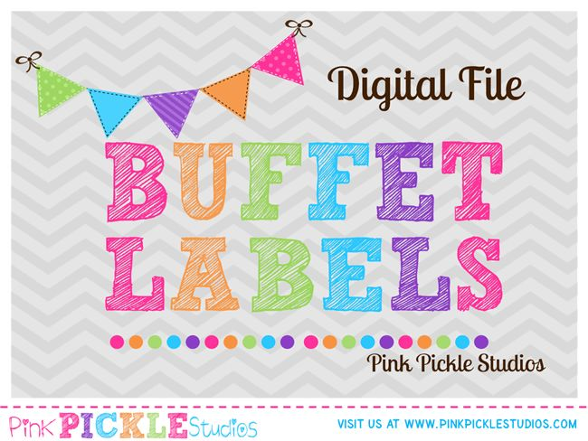 Matching Food Candy Buffet Labels Personalized