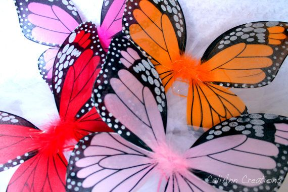 Child Sized Monarch Butterfly Wings in Fuchsia by CaliAnnCreations, $10.00
