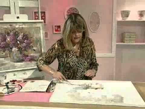 Pintura acrílico con espátula - Cuadro Jarron con Flores