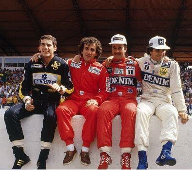 F1 Legends, Senna, Prost, Mansel, Piquet.