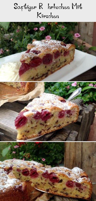 Saftiger Rührkuchen Mit Kirschen – Kuchen