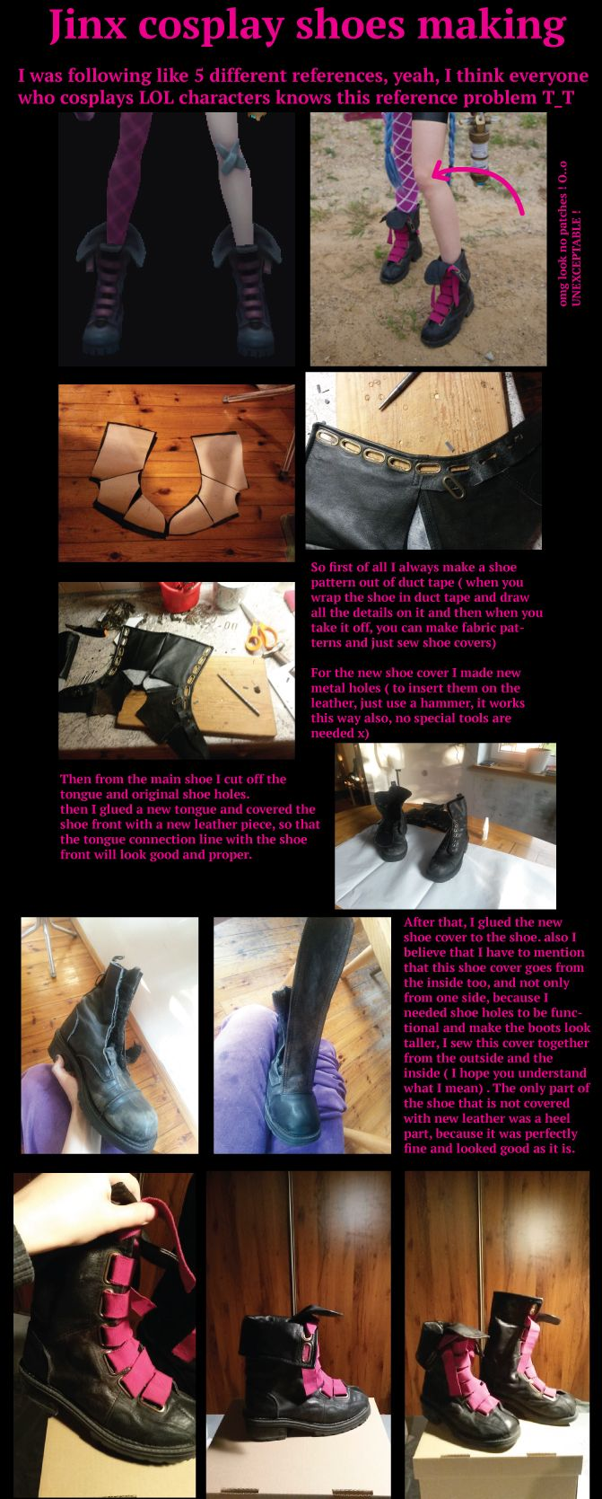 Shoe covers! Jinx shoes vip/tutorial by FoxTailCosplay on DeviantArt