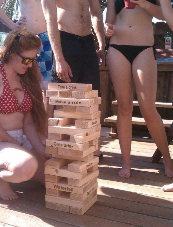 Giant Blocks Drinking Game Tumbling Towers Game