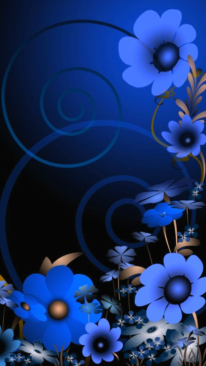 Blue Flowers Wallpaper Flower Iphone Wallpaper Blue Flower