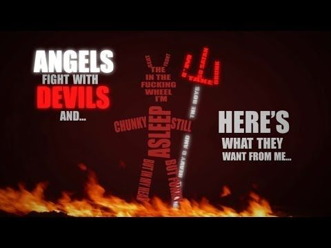 A snippit from a typography video of Eminem's 'Rap God' by Youtuber 'henriquermsilva'.