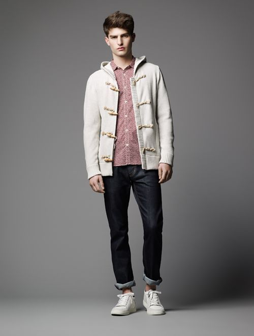 PAOLO ANCHISI MODELS BURBERRY BLACK LABEL'S SPRING/SUMMER 2013 COLLECTION