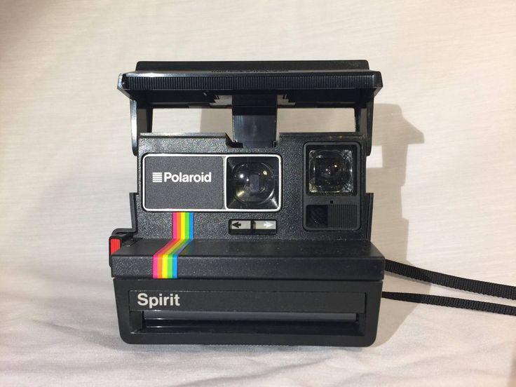 Polaroid 600 Land Camera SPIRIT Rainbow Stripe Instant Film Camera #Polaroid