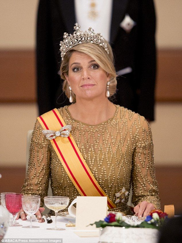 Queen Maxima of the Netherlands on the state visit to Japan 10/29/14
