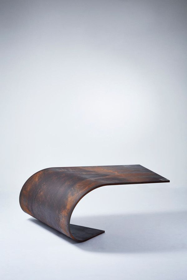 Perfectly Balanced Table Made of Steel by Paul Cocksedge