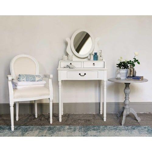 top tocador blanco an cm with meuble coiffeuse maison du monde. Black Bedroom Furniture Sets. Home Design Ideas