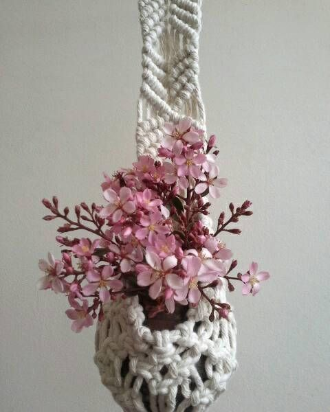 Check out this item in my Etsy shop https://www.etsy.com/au/listing/559465279/jonie-macrame-plant-hanger-macrame-vase