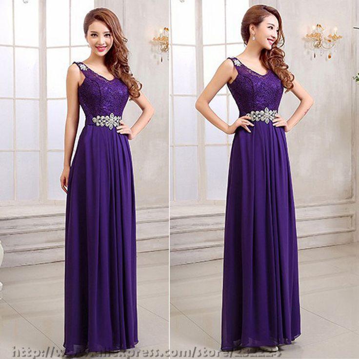 Длинные фиолетовые платья